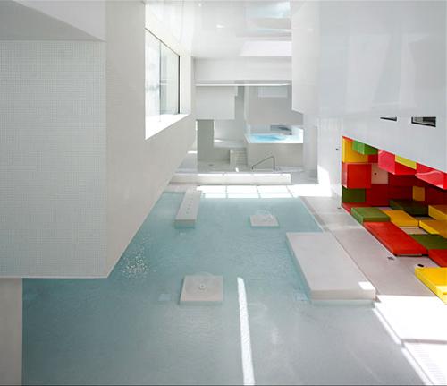 Modern swimming complex les bains des docks the style files - Piscine bains des docks ...