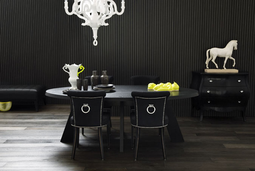 Trend black interiors the style files for Interior design styles black and white