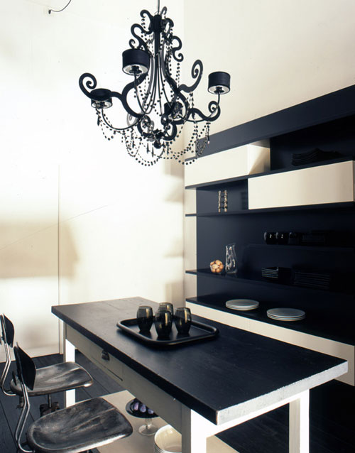 black & white house in florence, italy | the style files