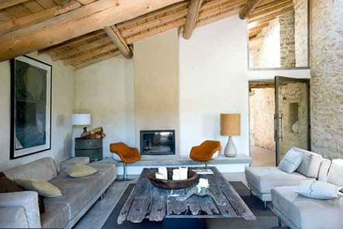 a renovated barn in the provence the style files. Black Bedroom Furniture Sets. Home Design Ideas