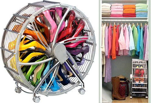 If You, Like Me, Have Problems Storing (and Finding..) Shoes In Your Closet  And You Donu0027t Like Conventional Shoe Racks? Then The Stylish Shoe Wheel By  Rakku ...