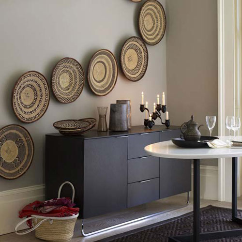 Wall Decor Using Baskets : More wall decorating ideas the style files
