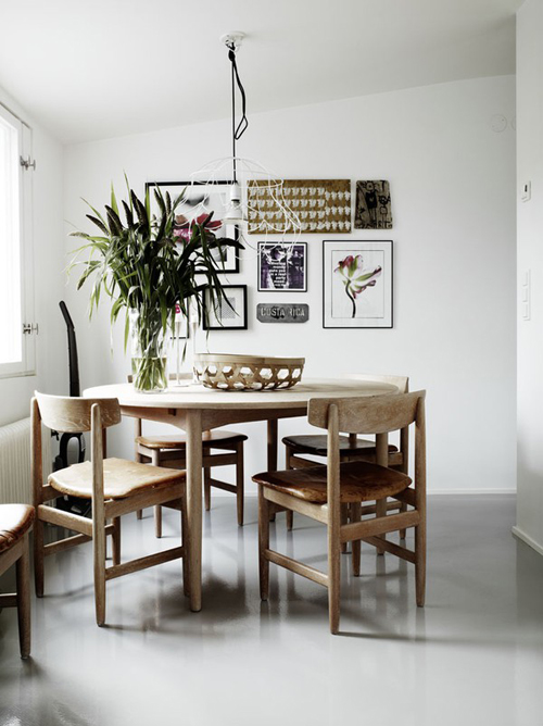 Scandinavian Style Dining Room Furniture: A SCANDINAVIAN HOME IN BLACK & WHITE WITH GREY TONES