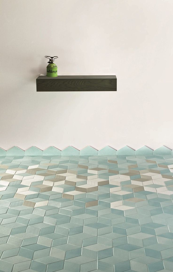 blue green bathroom tiles the style files. Black Bedroom Furniture Sets. Home Design Ideas