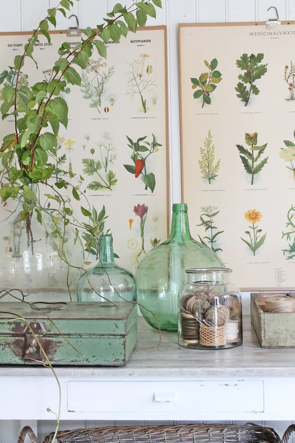 TREND INTERIORS WITH VINTAGE BOTANICAL PRINTS THE STYLE