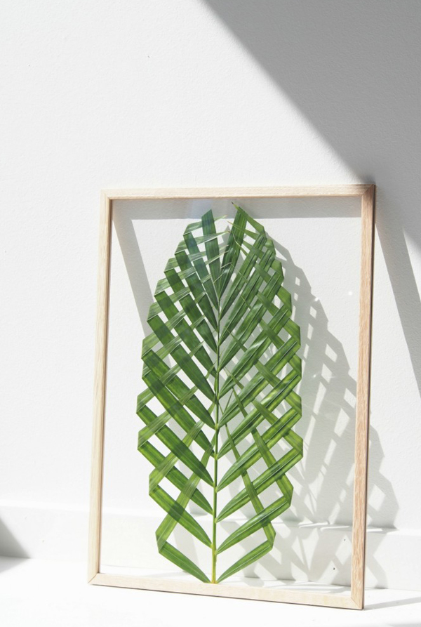 Summer Diy Project Framed Palm Leaf The Style Files