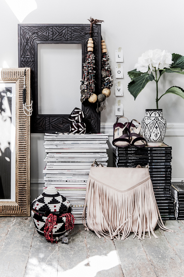 a scandinavian home with a boho chic vibe the style files. Black Bedroom Furniture Sets. Home Design Ideas
