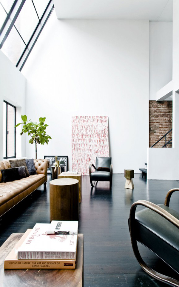 a stunning home in a converted jewish school in nyc the style files. Black Bedroom Furniture Sets. Home Design Ideas