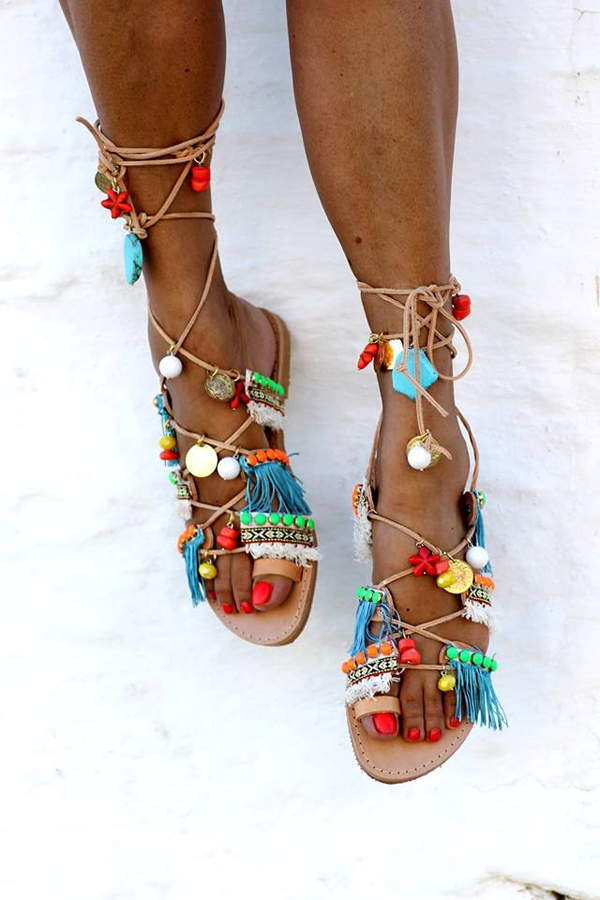 The Fashion Files Boho Chic Gladiator Sandals The Style Files