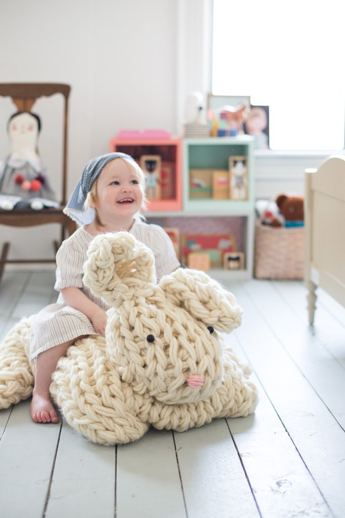 Arm Knit Rabbit Pattern : Diy project giant arm knit bunny the style files