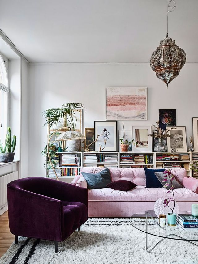 An eclectic bohemian apartment in sweden the style files for Como jogar modern living room escape