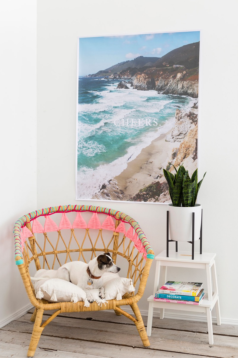 Charmant Another Great IKEA Hack! Some Old Jersey Fabric Has Been Used Here To Add  Some Color To IKEAu0027s Rattan Stockholm Chair. I Love The Vibrant Colors Used  Here, ...