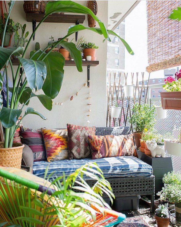 bohemian outdoor area in manhattan style