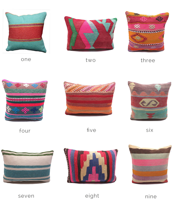 COLORFUL CUSHION COVERS FOR A BOHO CHIC LOOK