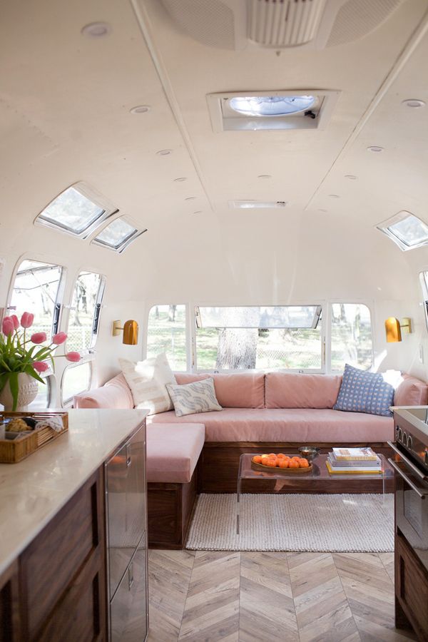 A SMALL BUT STYLISH AIRSTREAM MOBILE HOME THE STYLE FILES New Airstream Interior Design Minimalist